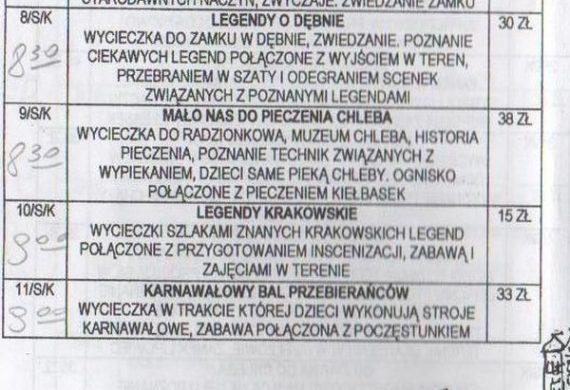 Pierwszy katalog/ czarno białe ksero